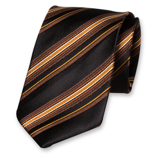 Black Tie with Multicolour - Silk (1)