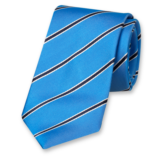 Blue Tie with Stripes - Silk (1)