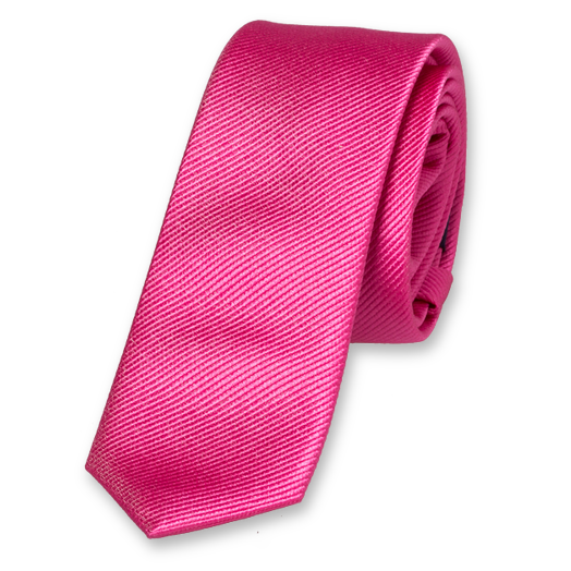 Bright Pink Boys Tie - Silk (1)