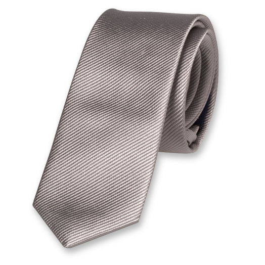 Grey Boys Tie - Silk (1)