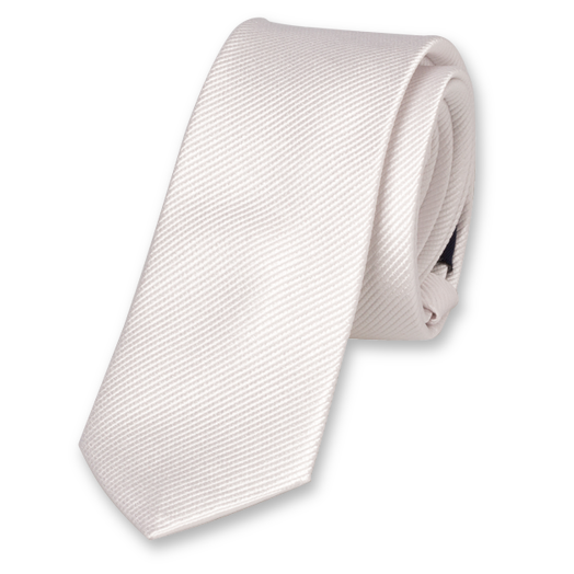 White Boys Tie - Silk (1)