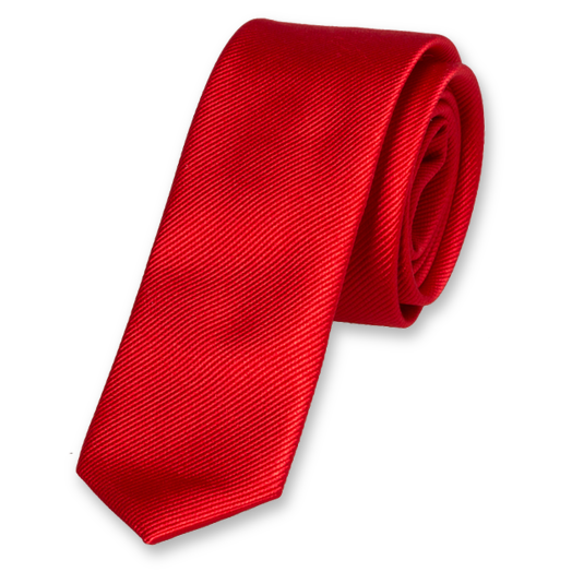 Bright Red Boys Tie - Silk (1)