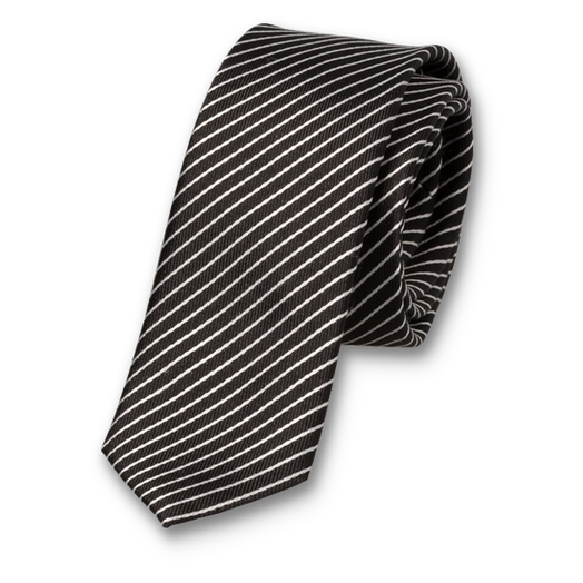 Black/white kids tie (1)