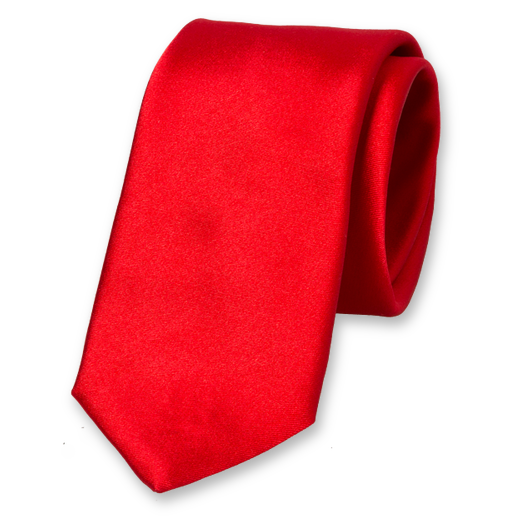 Red Deluxe Tie - Satin Silk (1)