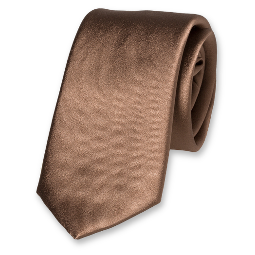 Gold/brown deluxe satinsilk tie (1)
