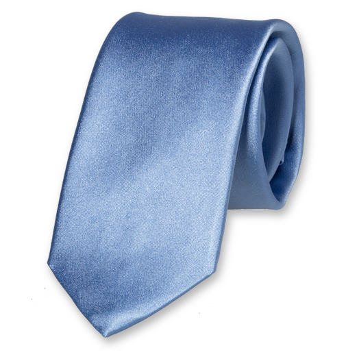 Light Blue Deluxe Tie - Satin Silk (1)