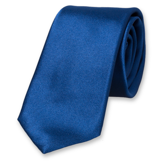 Royal Blue Deluxe Tie - Satin Silk (1)