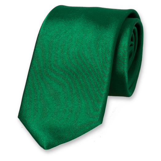 Green Deluxe Tie - Satin Silk (1)