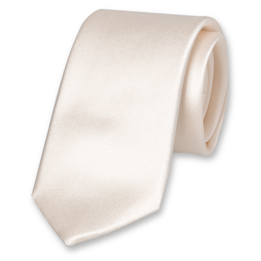 White Deluxe Tie  - Satin Silk (1)