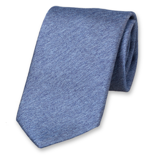 Blue Deluxe Tie - Satin Silk (1)