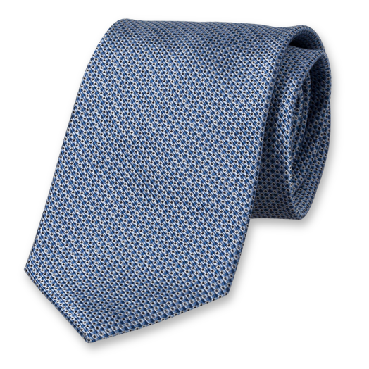 Necktie Profuomo with Blue Dessin - Silk (1)