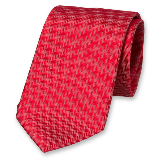 Red Progetto Tie - Satin Silk (1)