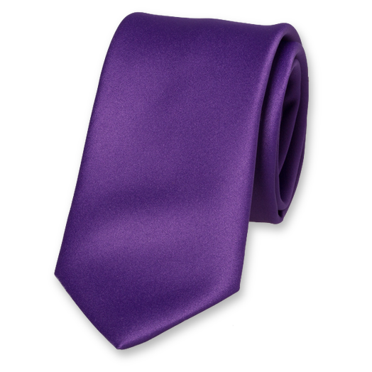 Purple Tie - Satin (1)