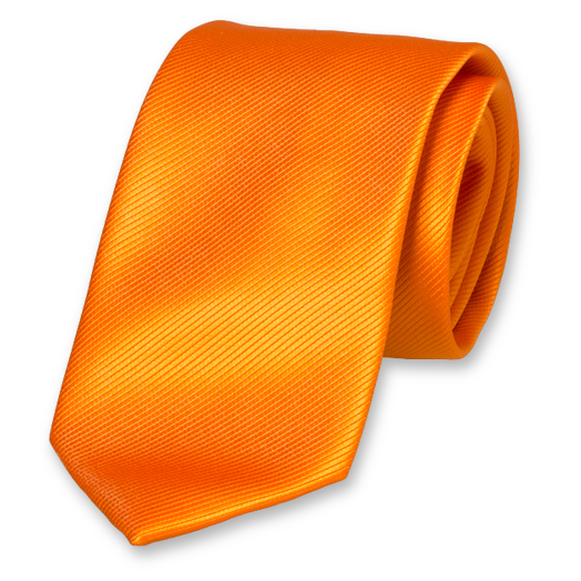 Orange Tie - Polyester (1)