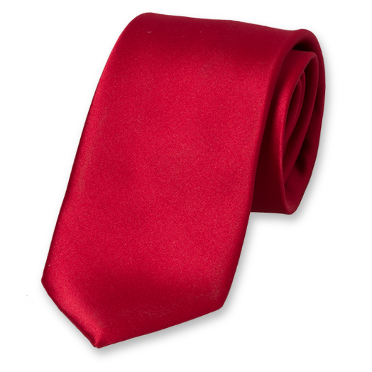 Dark Red Tie - Satin (1)