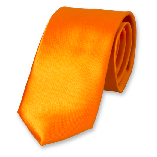 Orange polyester satin tie (1)
