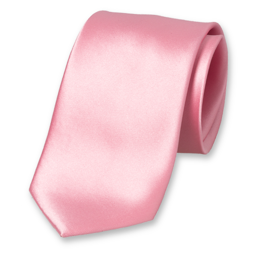 Light pink polyester tie (1)
