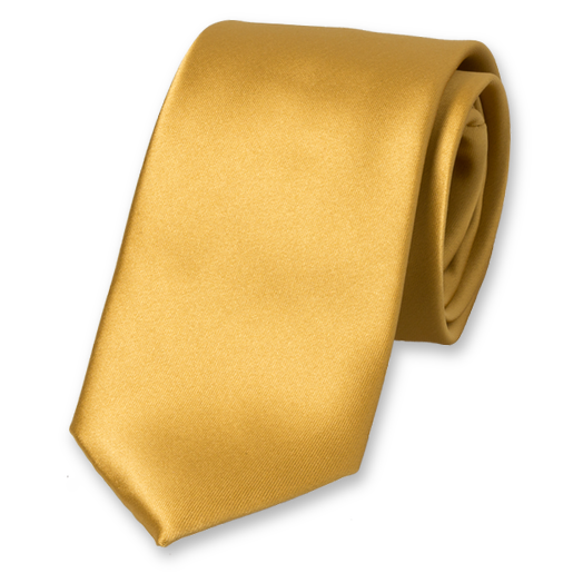 Gold polyester tie (1)