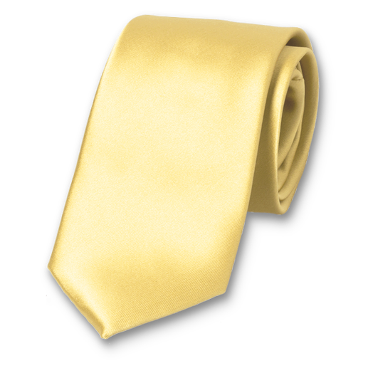 Soft yellow - Polyester Tie (1)