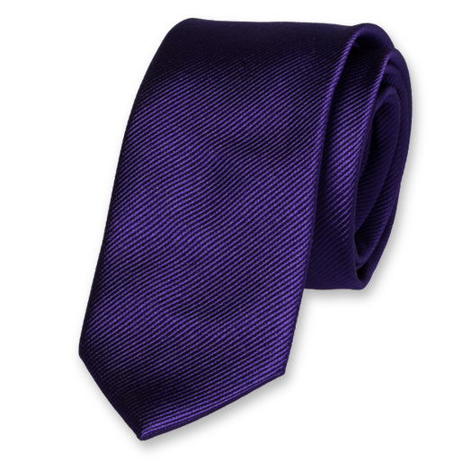 Purple Skinny Tie - Silk (1)