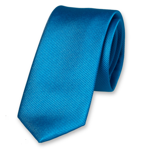 Bright Blue Skinny Tie - Silk (1)