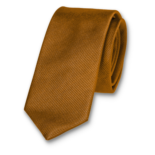 Light brown skinny tie (1)