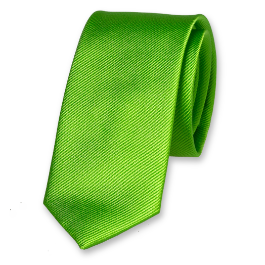 Apple Green Skinny Tie - Silk (1)