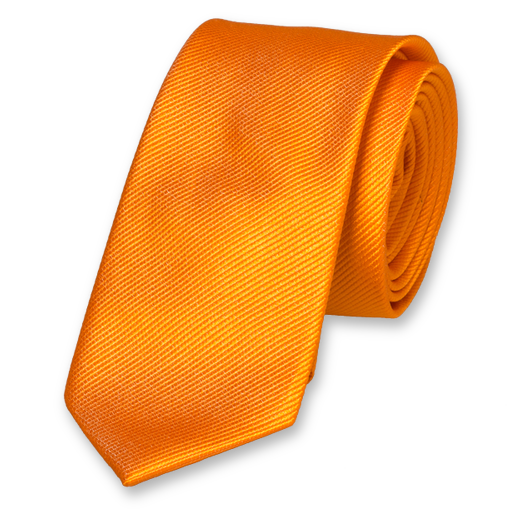 Orange Skinny Tie - Silk (1)