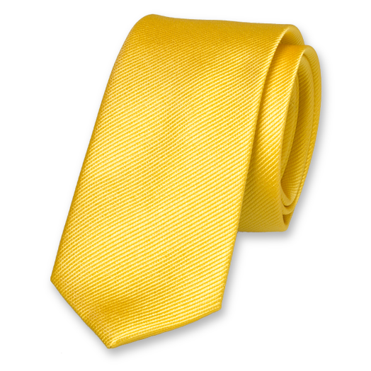 Bright Yellow Skinny Tie - Silk (1)