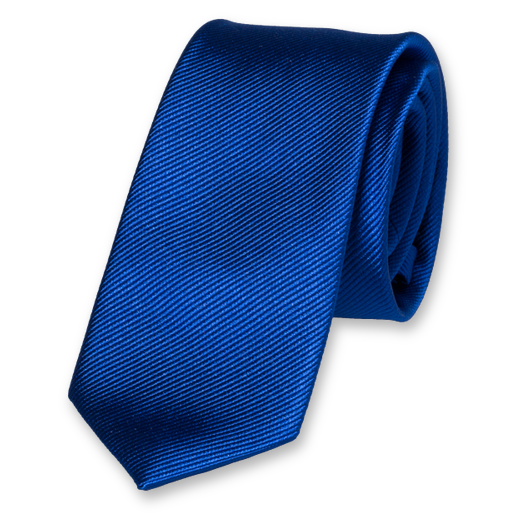 Royal Blue Skinny Tie - Silk (1)