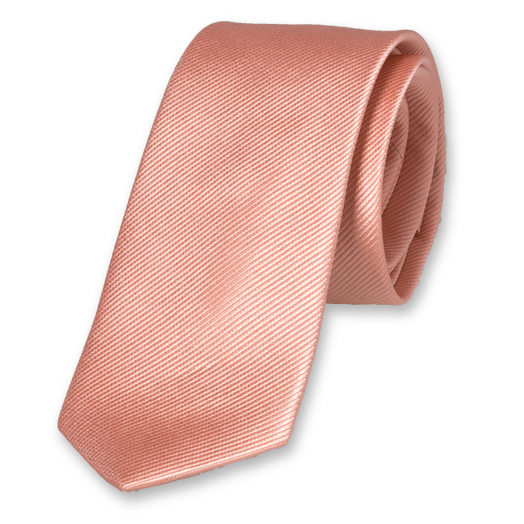 Salmon Pink Tie for Woman - Silk (1)