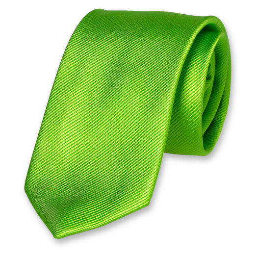Apple Green Extra Long Tie - Silk (1)