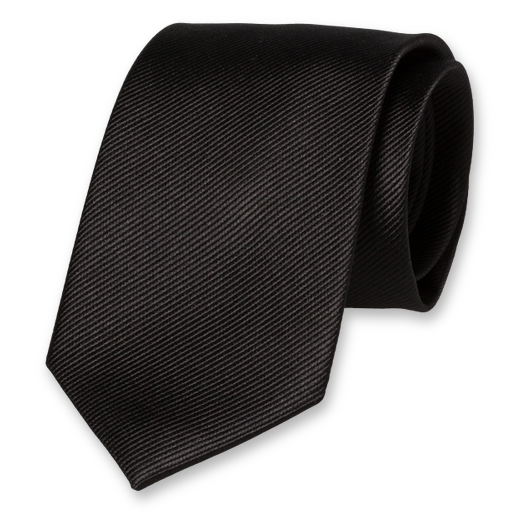 Black Extra Long Tie - Silk (1)