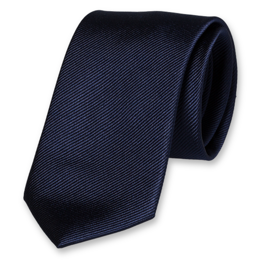 Dark Blue Extra Long Tie - Silk (1)