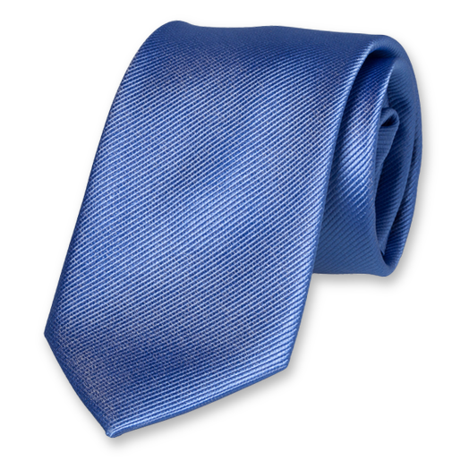 Blue Extra Long Tie - Silk (1)
