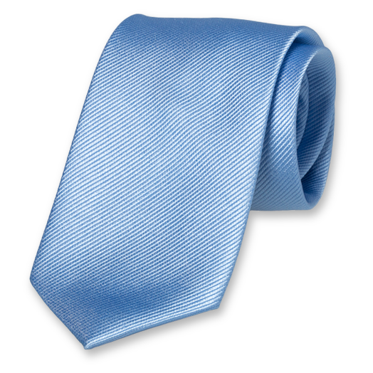 Light Blue Extra Long Tie - Silk (1)