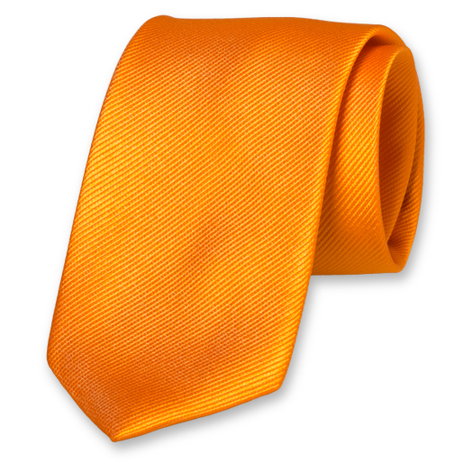 Orange Extra Long Tie - Silk (1)