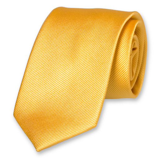 Yellow Extra Long Tie - Silk (1)