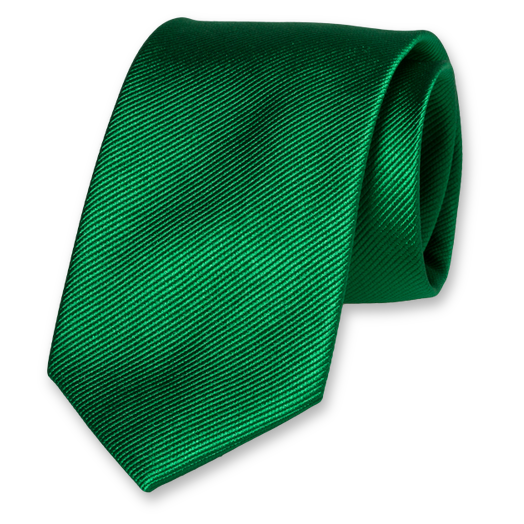 Green Extra Long Tie - Silk (1)