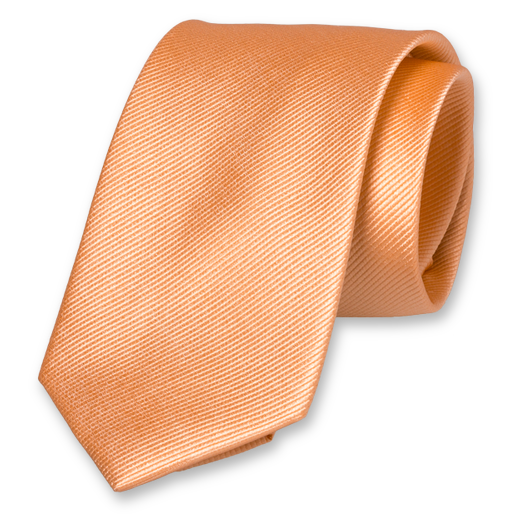 Peach Extra Long Tie - Silk (1)