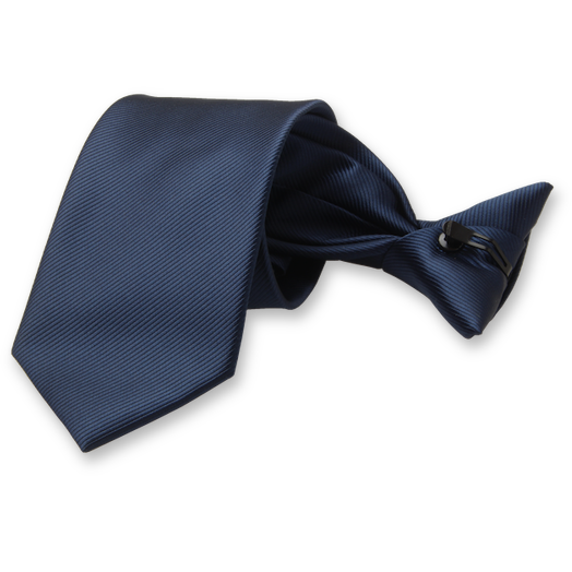 Rib Structure Dark blue clip tie (1)