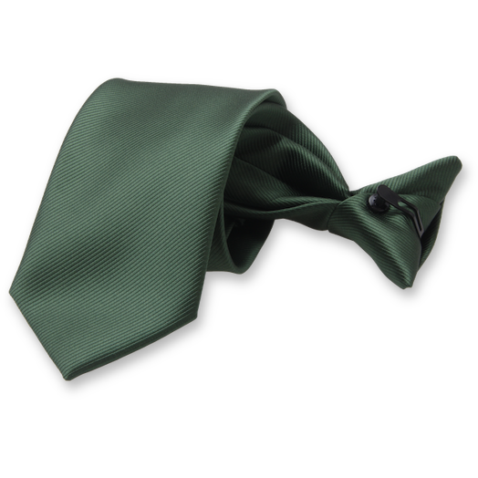 Rib structure Dark green clip tie (1)