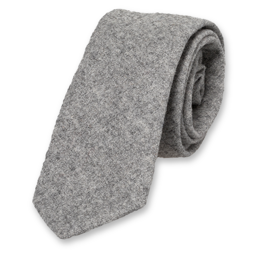Wool tie light grey (1)