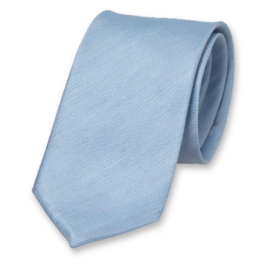 Linen tie light blue (1)