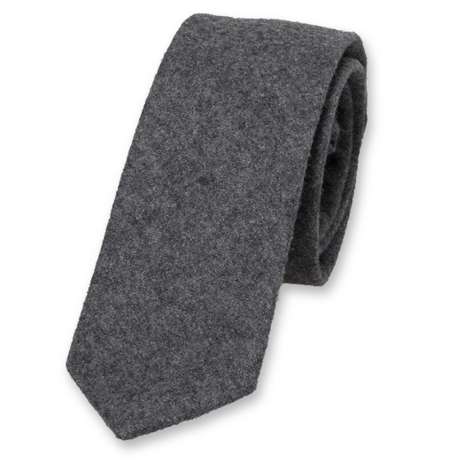 Wool tie dark grey (1)