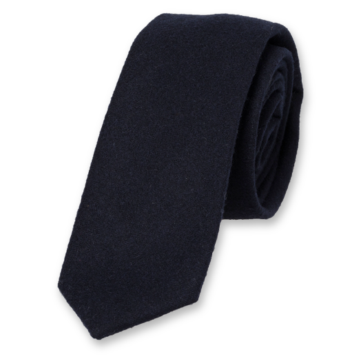 Wool tie dark blue (1)