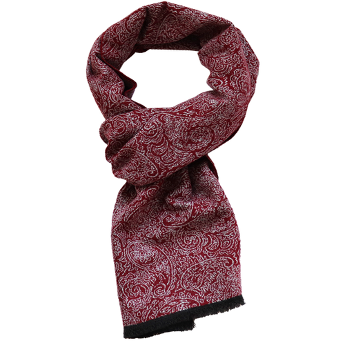 Men's scarf Red - Paisley (1)