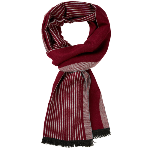 Men's scarf Red - Striped (1)
