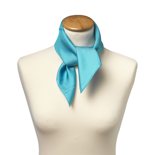 Scarf turquoise - silk - 53x53 cm (1)