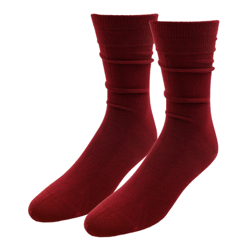 Burgundy Socks for Men - E.L. Cravatte (1)